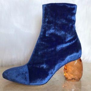 DRIES VAN NOETEN  Leather velvet boots